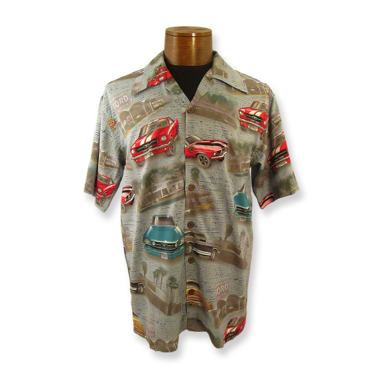 Ford Mustang  / Denim Style Camp Shirt