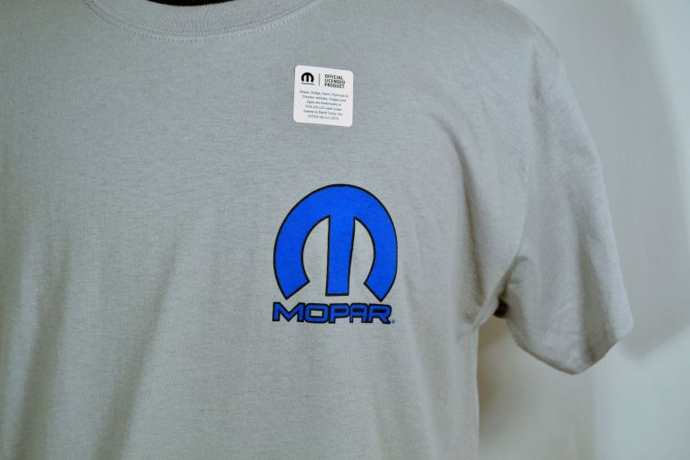 8498ad42 Mopar Pinstripe T-shirt - Car Shirts and Stuff